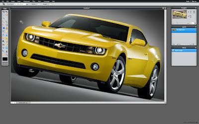 Pixlr Yellow Car