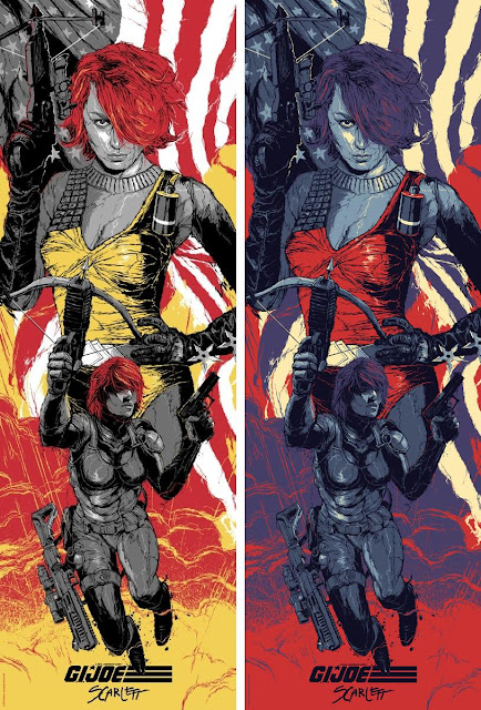 "Acid Free Gallery Hasbro Screen Print Series - ""Scarlett"" G.I. Joe Screen Print Standard and Variant Editions by Grzegorz Domaradzki"
