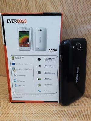Harga dan Spesifikasi Hp Evercoss A200, HP Android Murah 400 Ribuan