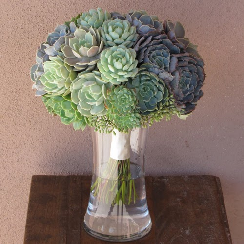 Beautiful Bridal Succulent Wedding Centerpieces
