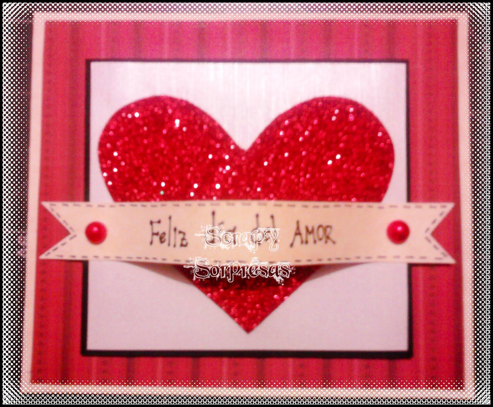 scrapy sorpresas  tarjetas entregadas en el d u00eda del amor