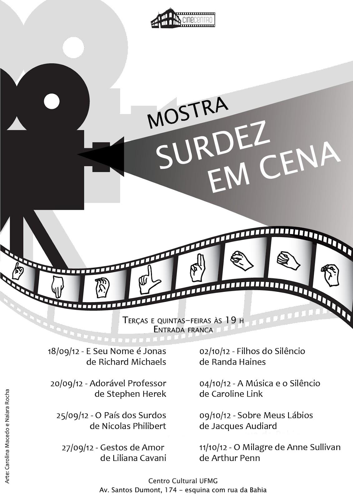 Filme Seu Nome É Jonas within curso librasnet: 1ª. mostra de cinema – surdez em cena