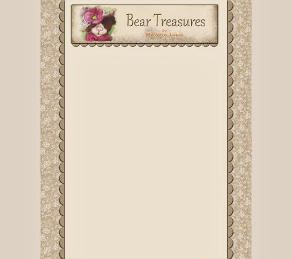 Bear Treasures by Melanie Jayne  free blog template and header OrPAdPNv