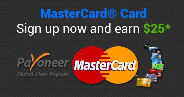 Free Master Debit Card + $25