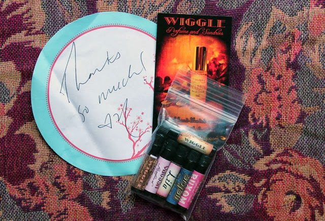 Wiggle Perfume and Sundries sample vials
