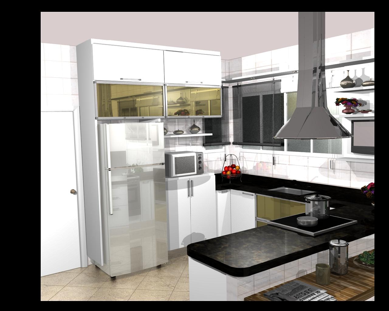 cozinha planejadas pequenas decorada americana modulada luxo moderna  #B31B18 1280 1024