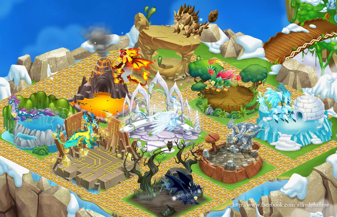 confira algumas imagens de dragon city