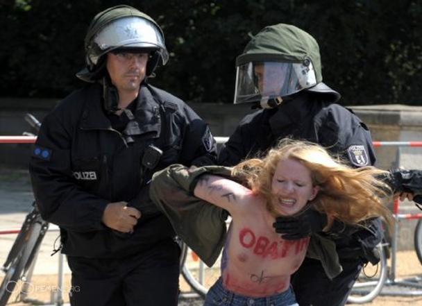Арестуваха активистки на Фемен в Берлин