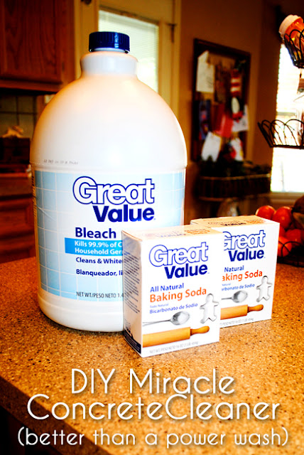 diy miracle concrete patio cleaner diy craft projects