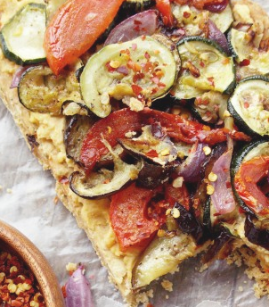 Cooking Pinterest: Grilled Vegetable and Hummus Tart