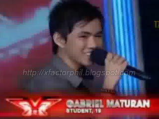 Gabriel Maturan, x factor, philippines, audition