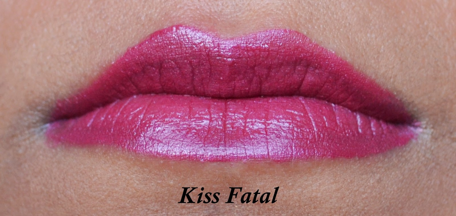 Rimmel Provocalips 16hr Kissproof Lip Colour in Kiss Fatal Swatch - Aspiring Londoner