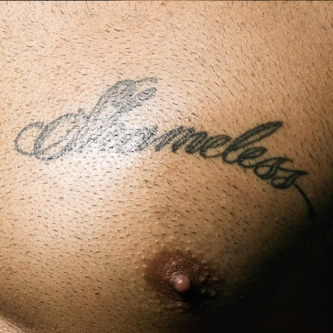 Marc Jacobs Shameless Tattoo on Pecs