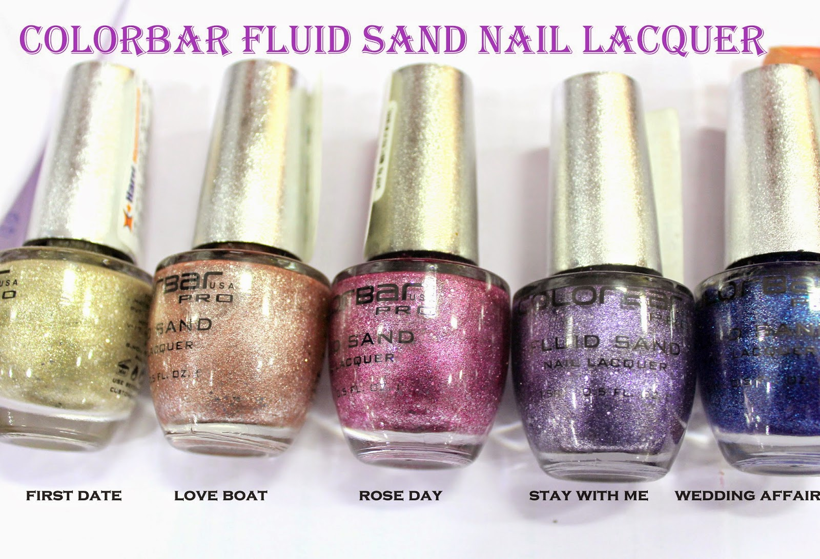 COLORBAR FLUID SAND NAIL LACQUERS( NEW LAUNCHES 2014)