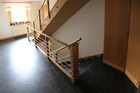 Treppenrenovierung - Podestfläche mit V-Fuge