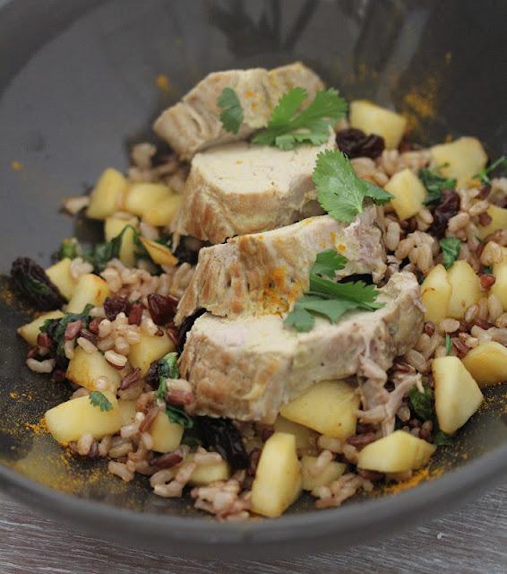 On dine chez nanou filet mignon de porc au curry riz - Cuisiner filet mignon de porc ...