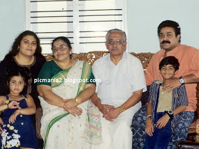 malayalam super star mohanlal  family image gallery