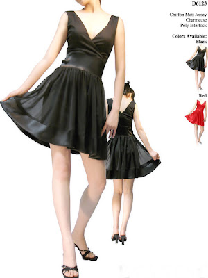 Black+A-line+Short+Prom+Dress