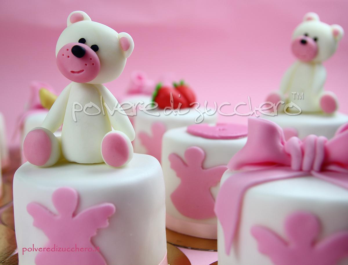 battesimo torta mini cakes bimba cake design torte decorate pasta di zucchero polvere di zucchero