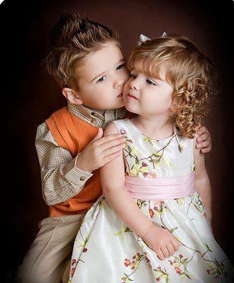 Cute Kissing kids