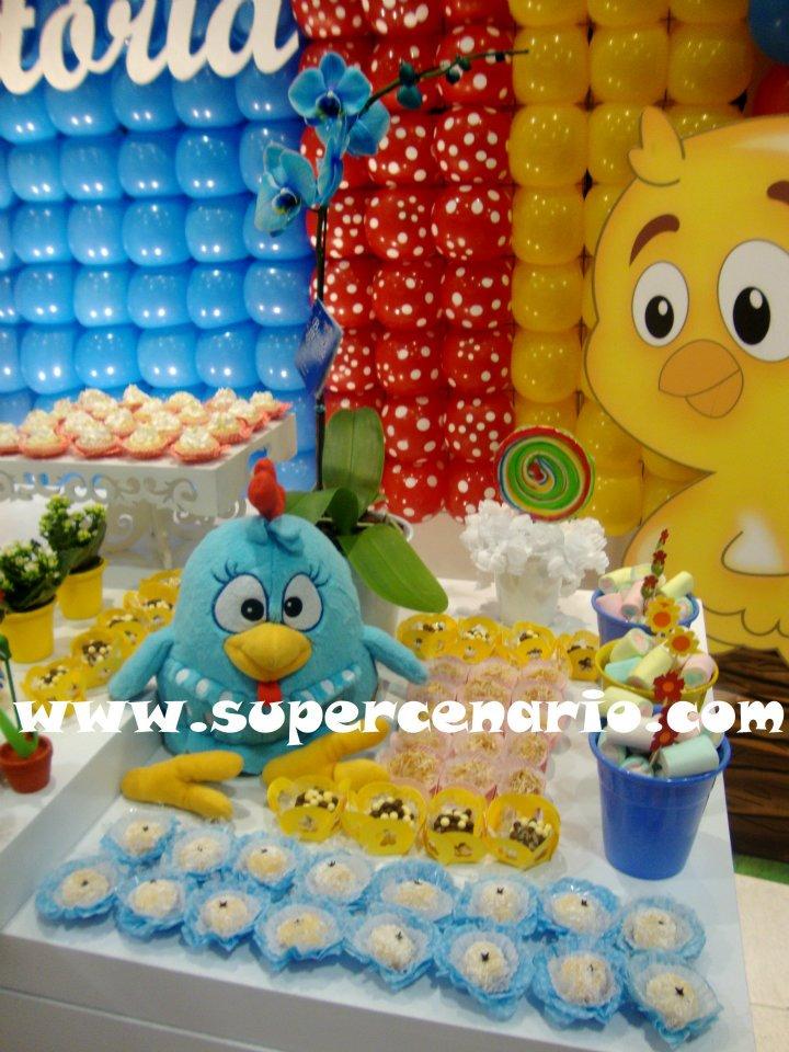 decoracao galinha pintadinha azul e amarelo:SUPER CENÁRIO: Decoração Clean Personalizada Galinha Pintadinha