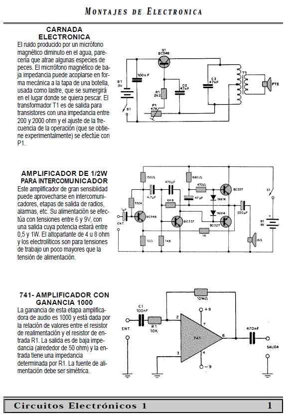 Pequeña coleccion de circuitos