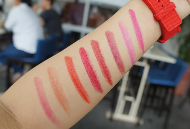 Swatches on Pink Sugar Creamy Matte Lipsticks and HD Lipsticks