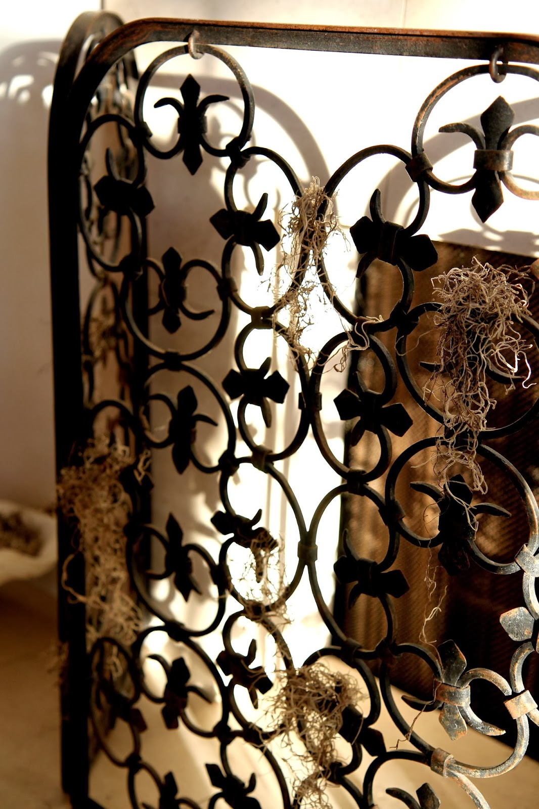 Spooky Gate Fireplace Screen; Hauntify Your House for Halloween