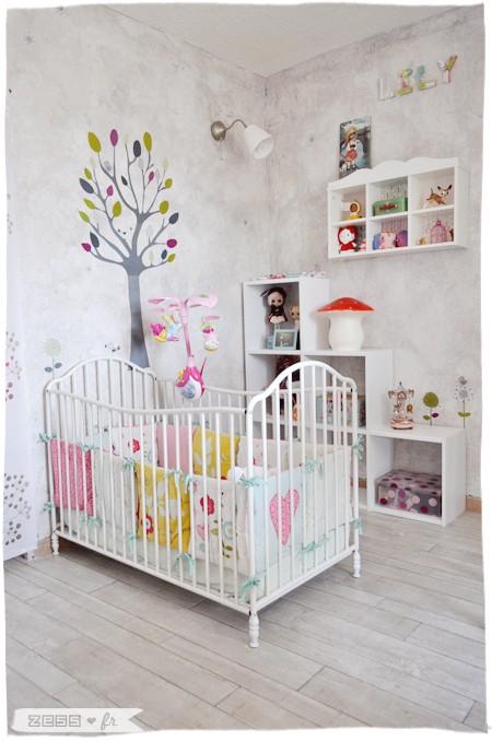 Rideau Chambre Bebe Fille Rose Et Gris :   personnaliser son intérieur Une chambre de bébé trop parfaite