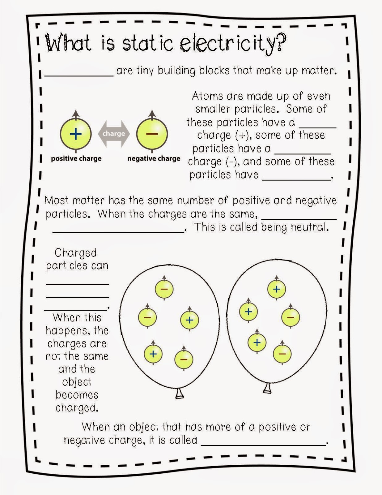 Static Electricity Worksheets Rringband – Bill Nye Static Electricity Worksheet