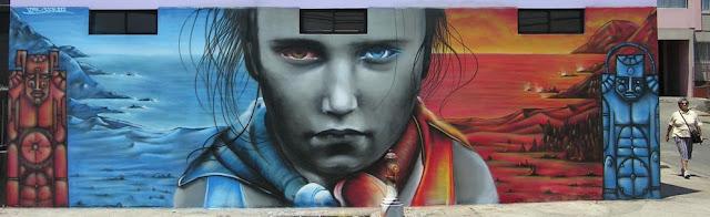 graffiti de izak en antofagasta, chile