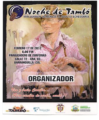 AFICHE NOCHE DE TAMBÓ AÑO 2012