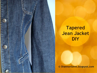 alter your jean jacket or lightweight jacket in just 3 easy steps