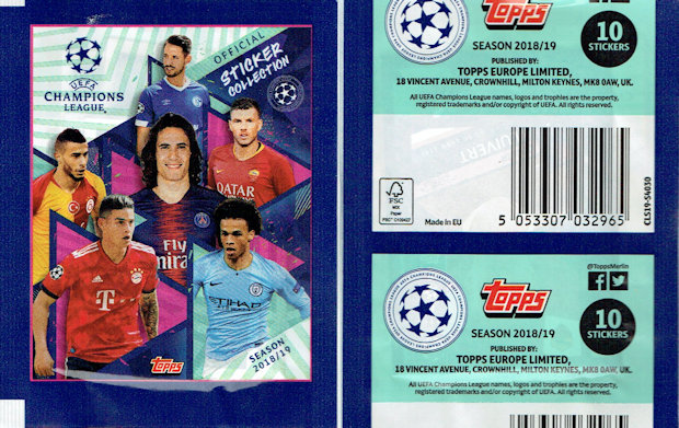 FIGURINA TOPPS CHAMPIONS LEAGUE 2018 2019 18 19 N.468 LINNES GALATASARAY