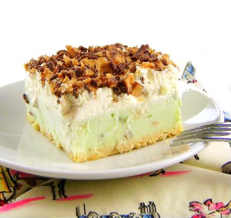 One Year Ago Today: Frozen Pistachio Cream Cake