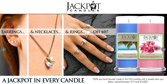 Jewelry in Candles Candles Containing Jewelry