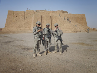Me and freinds infront of temple in Iraq