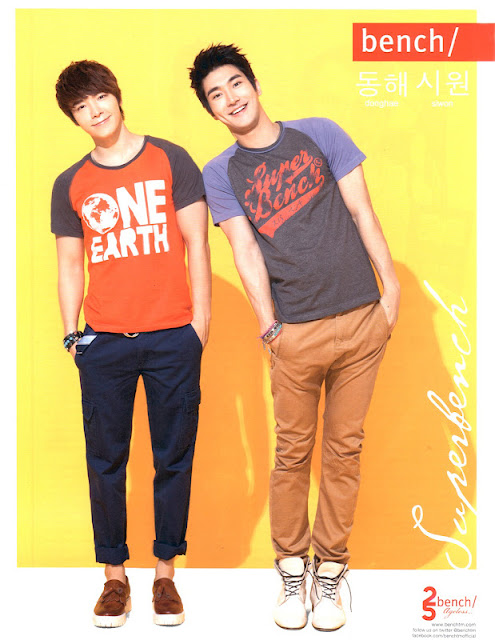 Siwon and Donghae for Bench Spring-Summer 2012 Campaign