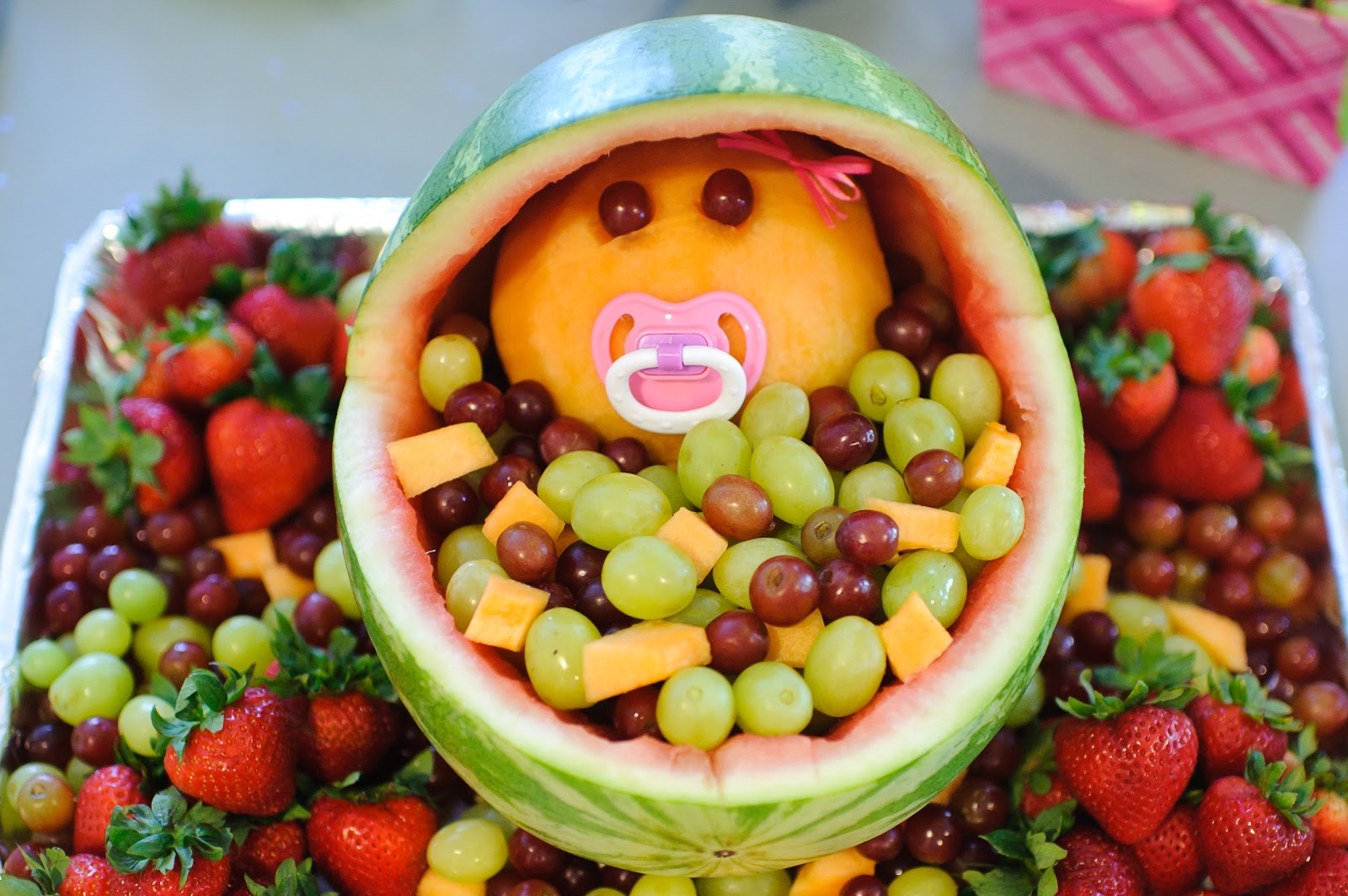 Fruit Bassinet   A Real Hit At The Shower And So Much Fun To Make. For The  Full Instructions Click HERE.