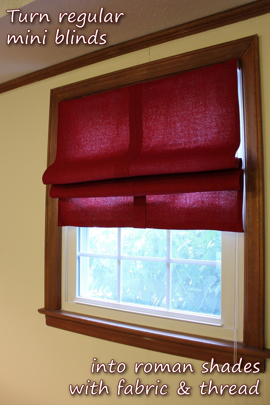 yesterday while showing off our done pool table room i promised a little tutorial on how i made these roman shades