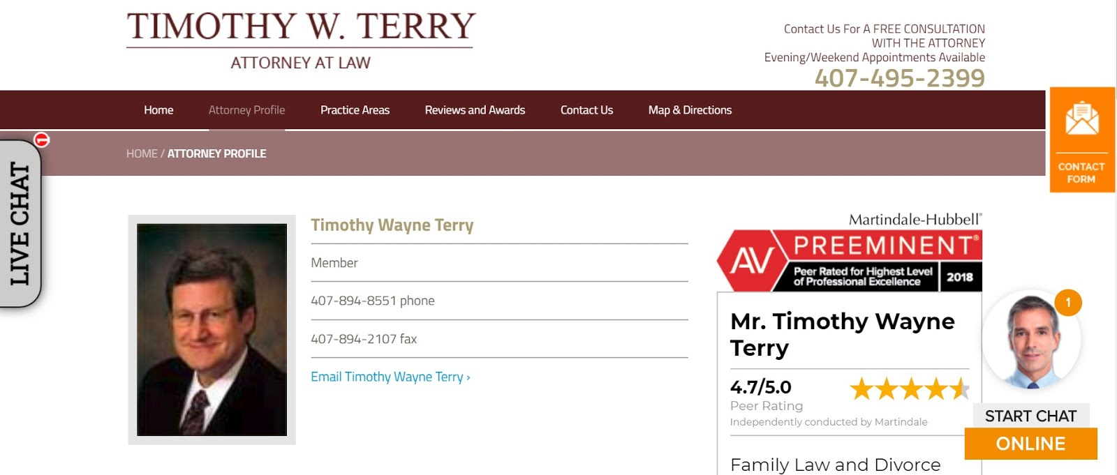 Timothy W. Terry, Attorney in Florida