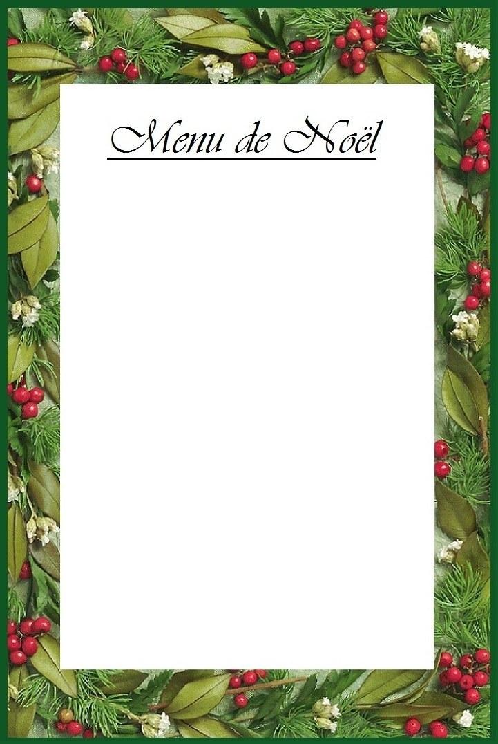Kerstmenu 39 s voor thuis met recepten en decoratie tips voor kerstmis thuis kaart - Menu de noel carte a imprimer ...