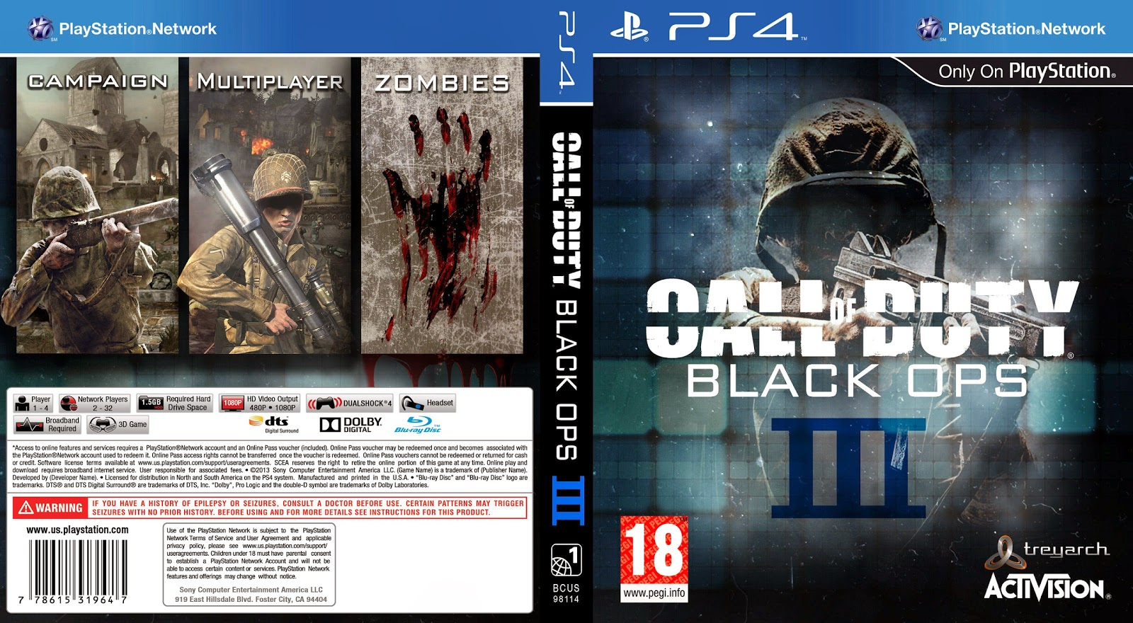 Capa Call Of Duty Black Ops III PS4