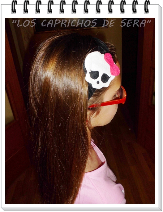 DIADEMA DE FIELTRO  MONSTER HIGH