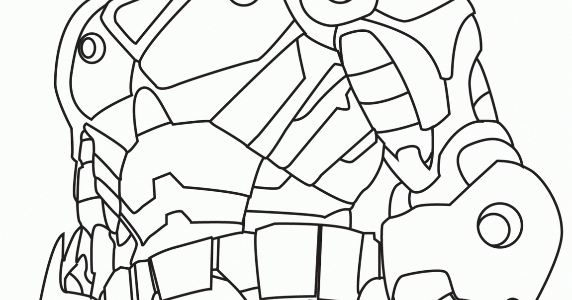 Iron Man drawing black and white | COLOR AREA