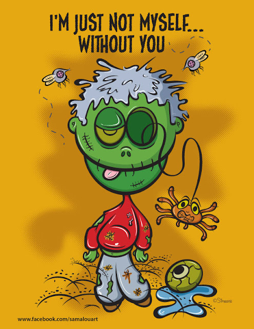 cartoon zombie illustration
