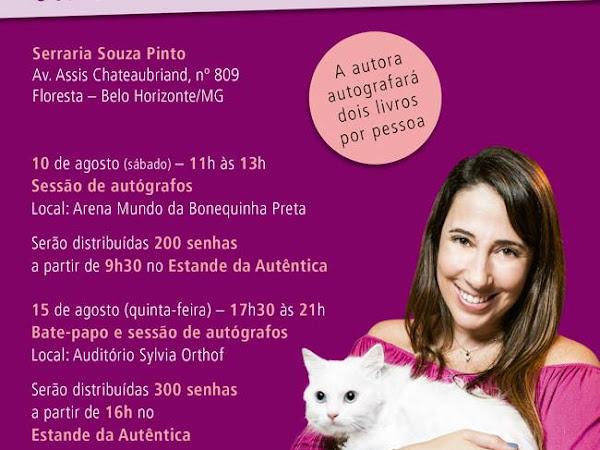 Paula Pimenta no Salão do Livro Infantil e Juvenil de Minas Gerais