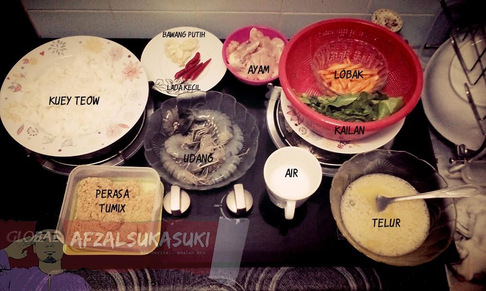 Resepi Cara Mudah Membuat Kuey Teow Hong Kong