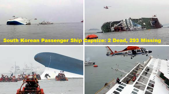 South Korean Passenger Ship Capsize: 293 Missing