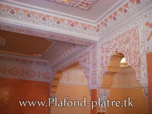 Boutique salon marocain 2016 2017 faux plafond for Platre traditionnel marocain